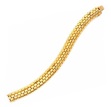 A Retro Gold Bracelet, by Boucheron, circa 1940