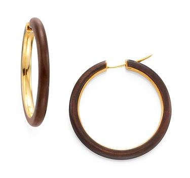 A Pair Of Copper And Gold Hoop Earrings, By Hemmerle