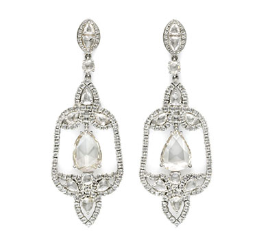 A Pair of Rose-cut Diamond Ear Pendants, by Carnet