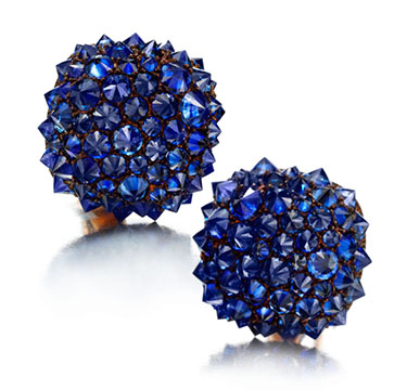 A Pair of Sapphire Ear Clips, by Hemmerl