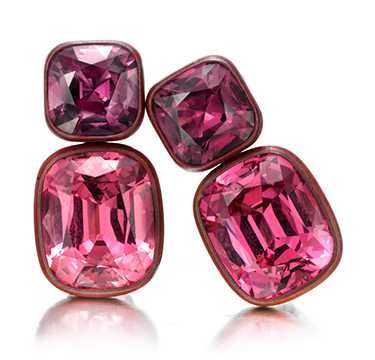 A Pair of Spinel and Copper Ear Clips, by Hemmerle