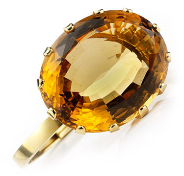 A Citrine and Gold Bracelet of approximately 100 carats