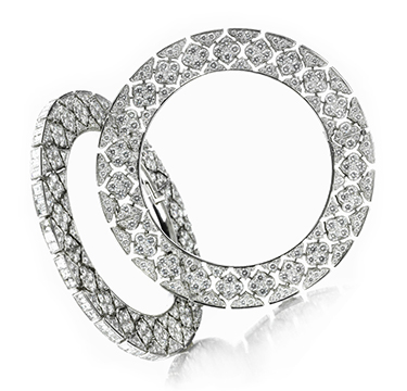 A Pair of Diamond and Platinum Bangles, by Bhagat