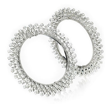 A Pair Of Diamond Bangles, Of 84.11 Carats, By Bhagat