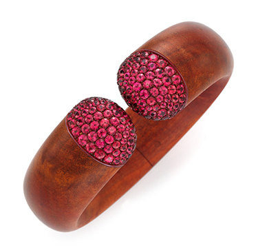 A Spinel And Rosewood Cuff Bracelet, By Hemmerle