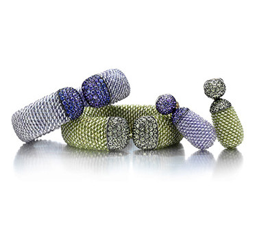 A Set Of Peridot, Amethyst And Sapphire Set, By Hemmerle