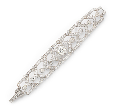 A Diamond Bracelet, by Cartier, circa 1940