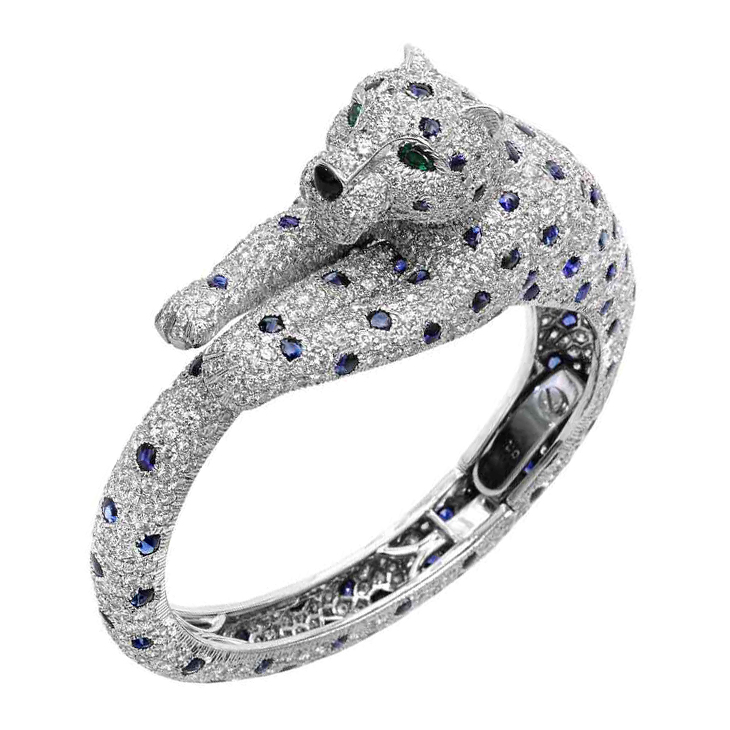 Fd Gallery A Sapphire Emerald And Diamond Panther