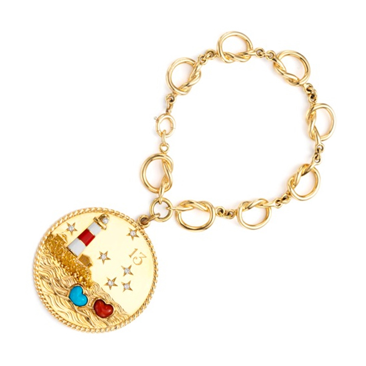 A Multi-gem, Enamel and Diamond Charm Bracelet, by Cartier, circa 1960