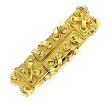 A Gold Bracelet, By Cartier
