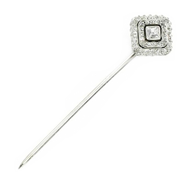 An Edwardian Diamond Stickpin, by Cartier, circa 1910