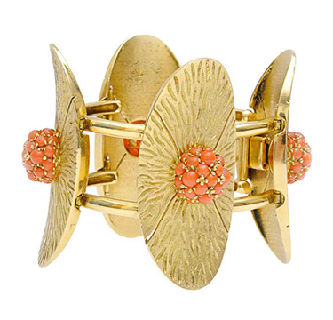 A Coral and Gold Bracelet, by Pomellato, circa 1975