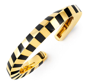 An Onyx and Gold Cuff, by Angela Cummings, circa 1985