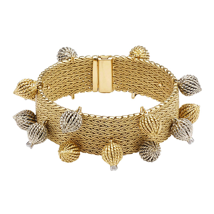A Bi-colored Gold Bracelet, by Sterle, circa 1950