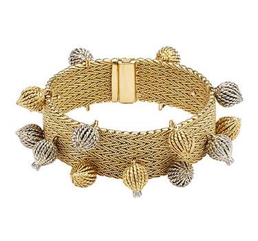A Bi-colored Gold Bracelet, By Sterle, Circa 1950