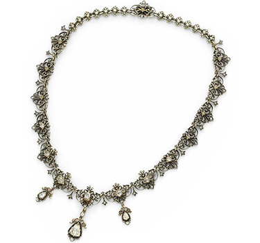An Antique Diamond, Silver And Gold Necklace, Circa 1800