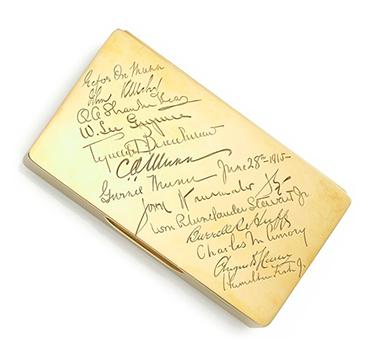 A 14k Gold Cigarette Box, by Cartier