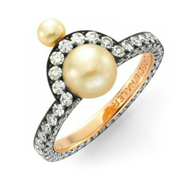 A Natural Pearl And Diamond Ring, By Nadia Morgenthaler