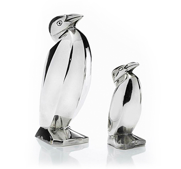 A Pair Of Art Deco Sterling Silver Salt And Pepper Shakers, By Christophle, Circa 1930