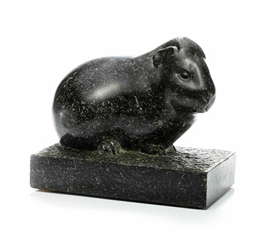 A Granite Guinea Pig Statue, By George Hilbert, Circa 1945