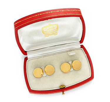 A Pair Of 18k Gold Cufflinks, By Cartier, Circa 1935