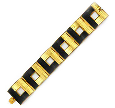 A Gold And Mirrored Mosaic Bracelet, By Rene Boivin