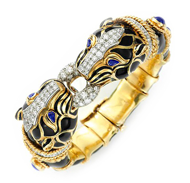 A Multi-gem, Diamond and Enamel Bracelet, by David Webb