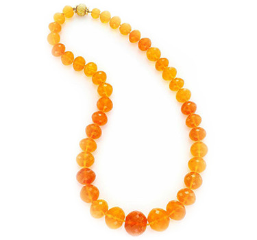 A Faceted Fire Opal Bead Necklace, By Bulgari