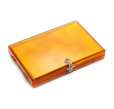 An Art Deco Bakelite and Diamond Vanity Case, circa 1920