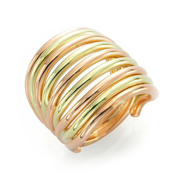 A Bi-colored Gold Band Ring, by Cartier, circa 1970