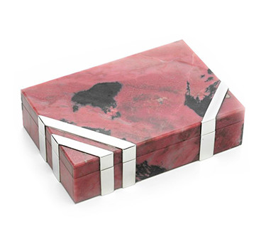 A Hardstone And Silver Box, By Cartier, Circa 1970