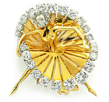 A Gold And Diamond 'Ballerina' Dancer Brooch, By Van Cleef & Arpels, Circa 1940
