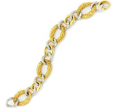 A Gold And Diamond Chain Link Bracelet, By Van Cleef & Arpels, Circa 1970