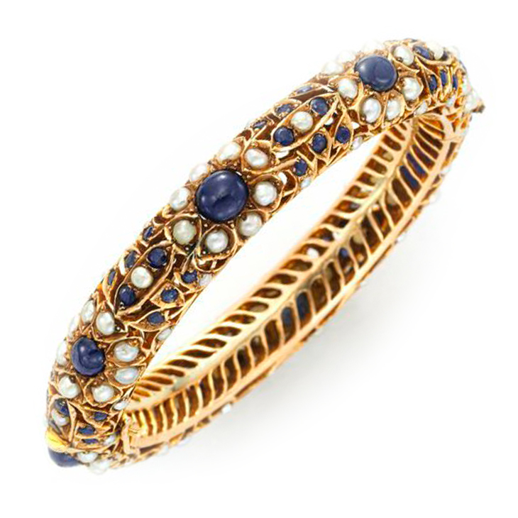 itm and sapphire bangle diamond estate bangles bracelet