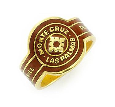 An Enamel And Gold 'Cigar' Band Ring, By Dunhill, Circa 1970