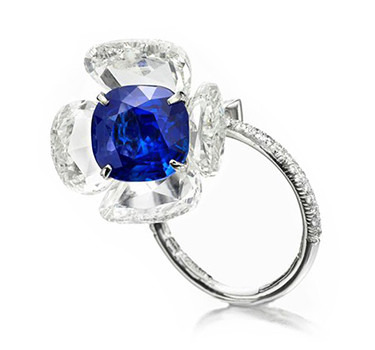 A Kashmir Sapphire And Diamond Ring, By Bhagat