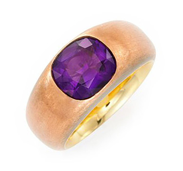An Amethyst And Copper Ring, By Hemmerle
