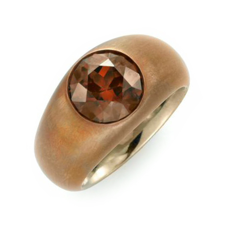 A Zircon and Copper Ring, by Hemmerle