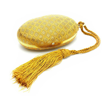 A Gold And Diamond 'Melone' Evening Bag, By Bulgari, Circa 1965