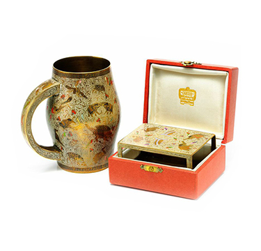 An Art Deco Enamel Smoking Set, retailed by Cartier, circa 1930