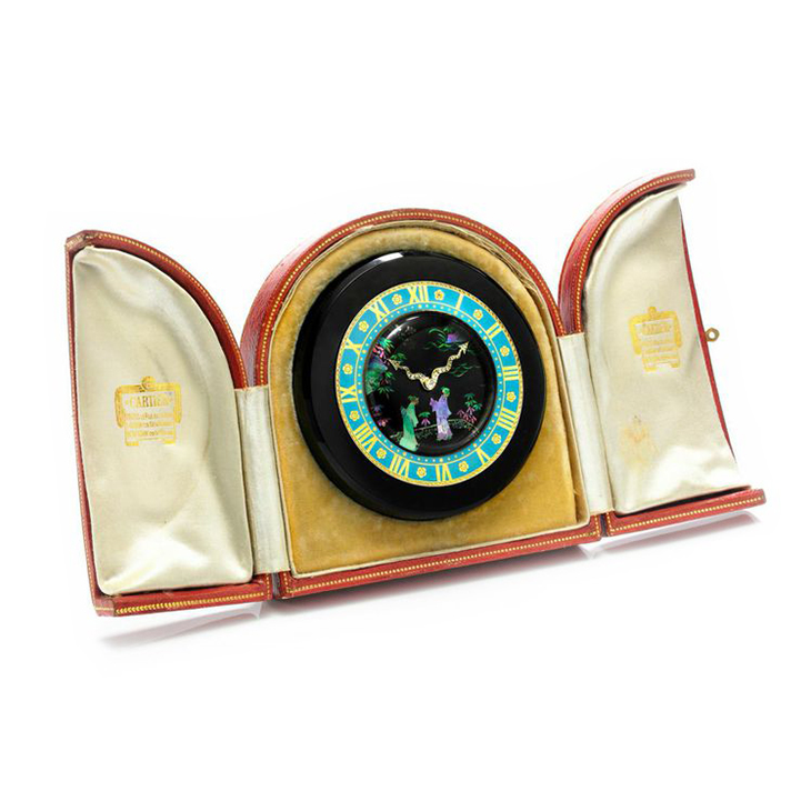An Art Deco Chinoiserie Clock, by Cartier, circa 1925