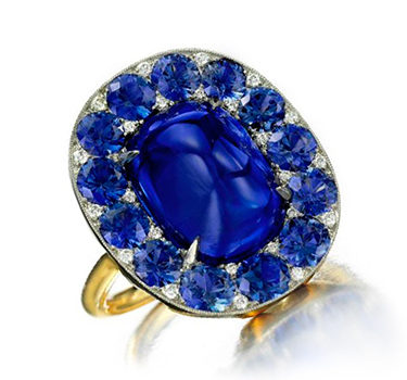 A Sapphire And Diamond Ring, By SABBA