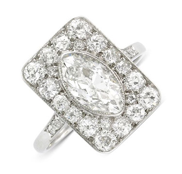 An Edwardian Diamond Plaque Ring