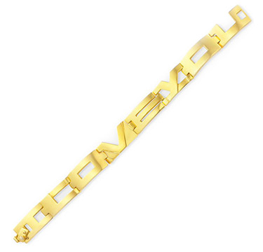 A Gold 'I Love You' Bracelet, by Aldo Cipullo, circa 1971