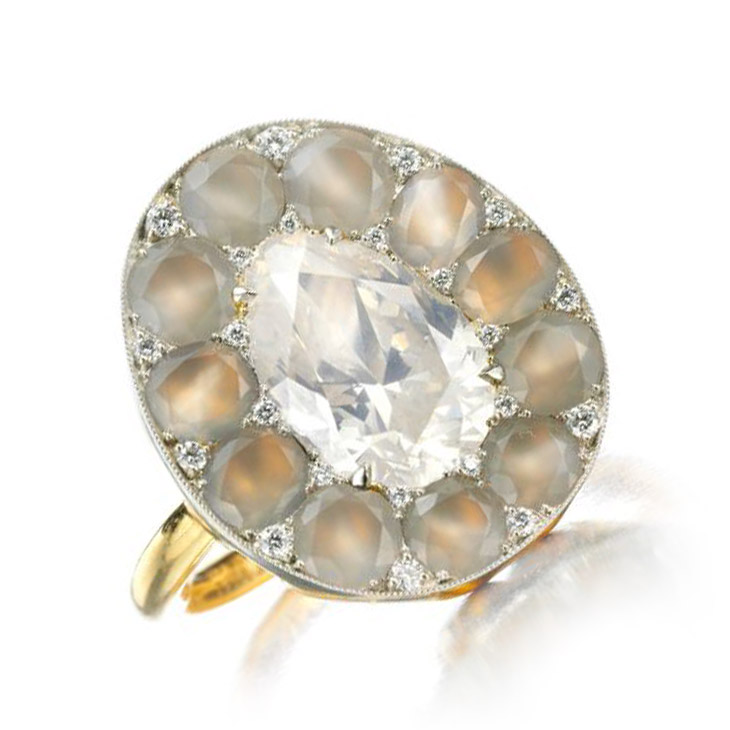 A Diamond and Agate Ring, by SABBA