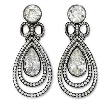 A Pair Of Diamond Ear Pendants, By Hemmerle
