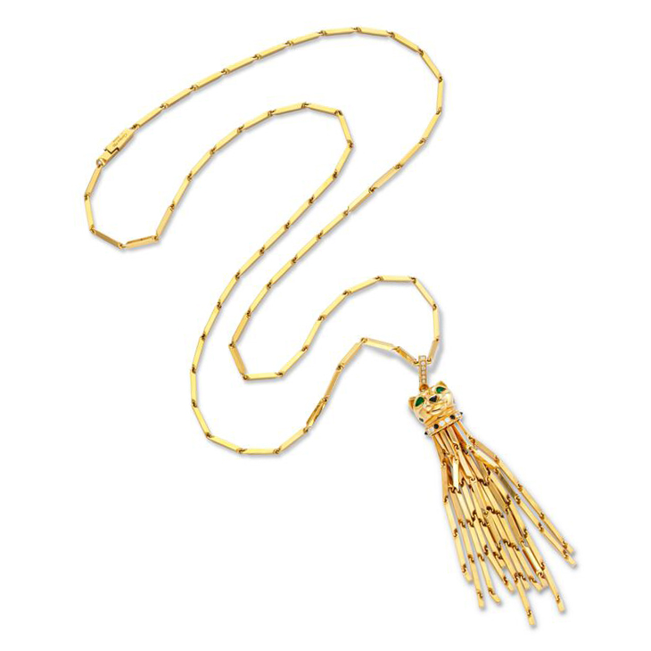 Fd gallery a multi gem and gold panther gold tassel pendant a multi gem and gold panther gold tassel pendant sautoir necklace mozeypictures Image collections