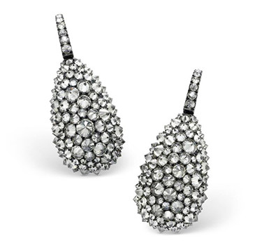 A Pair Of Reverse-set Diamond Ear Pendants, By Hemmerle