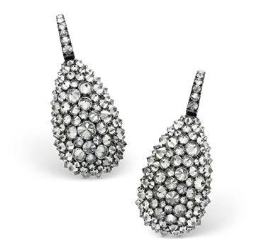 A Pair Of Reverse-set Diamond Ear Pendants, By Hemmerle