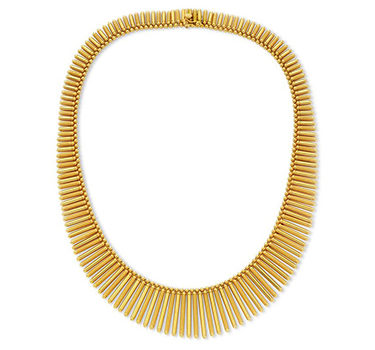 A Gold Fringe Necklace, Circa 1940